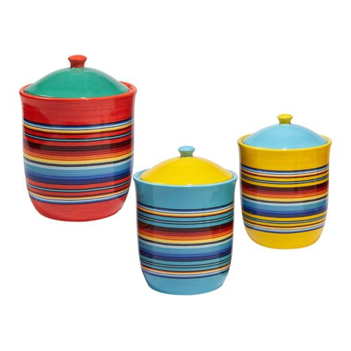 Certified International Pinata 3-pc. Canister Set