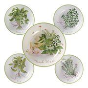 Certified International Fresh Herbs 5 pc Bowl Set