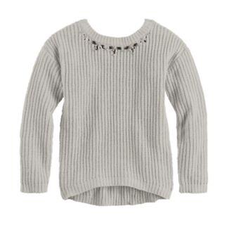 Girls 7-16 Sugar Rush Jeweled Neck Sweater