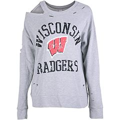 Women's Wisconsin Badgers Distressed Sweatshirt