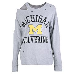 Women's Michigan Wolverines Distressed Sweatshirt