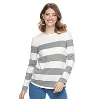 Women's Croft & Barrow® Striped Crewneck Sweater