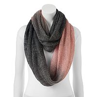 SO® Lightweight Ombre Lurex Accent Infinity Scarf