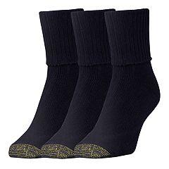 Women's GOLDTOE® 3-Pack Extended Bermuda Socks