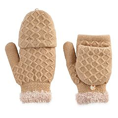 SONOMA Goods for Life™ Women's Solid Woven Convertible Flip-Top Mittens