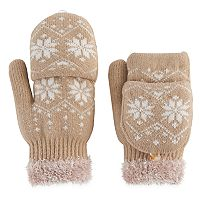 SONOMA Goods for Life™ Women's Snowflake Fairisle Convertible Flip-Top Mittens