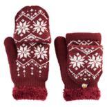 SONOMA Goods for Life™ Women's Snowflake Fairisle Convertible Flip-Top Mittens