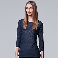 Women's Simply Vera Vera Wang Windy Jacquard Crewneck Tee