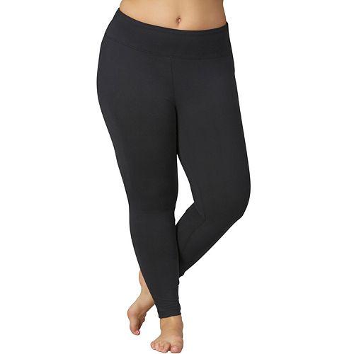 40daaa1a2248b6 Plus Size Marika Sanded Dry Wik Flat Waist Yoga Leggings