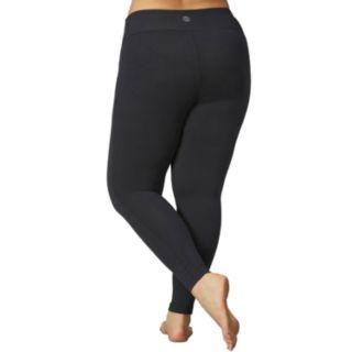 Plus Size Marika Sanded Dry Wik Flat Waist Yoga Leggings