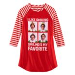 "Girls 4-12 Elf ""I Like Smiling Smiling's My Favorite"" Nightgown"