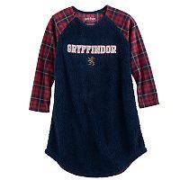 Girls 7-16 Harry Potter Gryffindor Fleece Knee-Length Dorm Nightgown