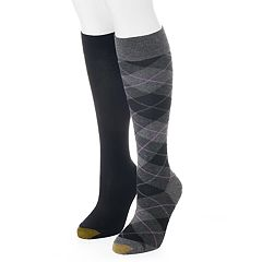 Women's GOLDTOE 2-pk. Argyle Knee-High Socks
