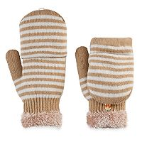 SONOMA Goods for Life™ Women's Striped Convertible Flip-Top Mittens