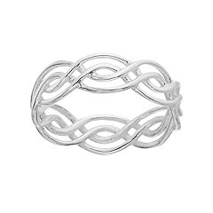 PRIMROSE Sterling Silver Braided Wave Ring