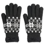 SONOMA Goods for Life™ Women's Fairisle Cozy Lined Knit Gloves