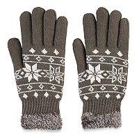 SONOMA Goods for Life™ Women's Fairisle Cozy Lined Knit Gloves