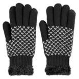 SONOMA Goods for Life™ Women's Bird's-Eye Cozy Lined Knit Gloves