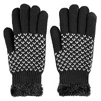 SONOMA Goods for Life™ Women's Bird's-Eye Cozy Lined Knit Gloves