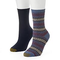 Women's GOLDTOE 2 pkFairisle Ribbed Crew Socks