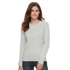 Women's Croft & Barrow® Essential Cable-Knit Sweater