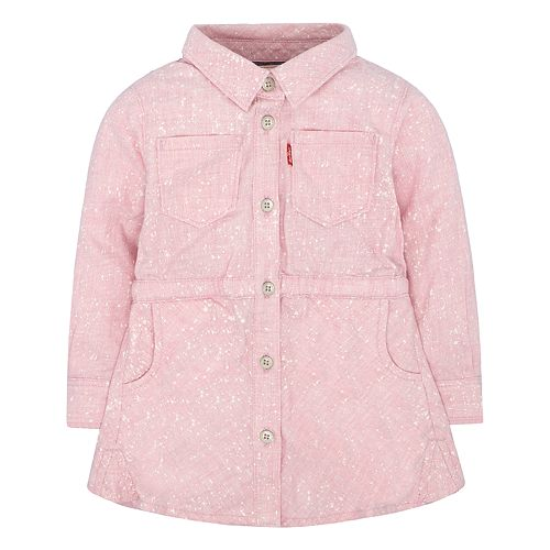 Baby Girl Levi's Pink Fit & Flare Shirt Dress