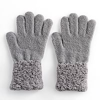 Women's SONOMA Goods for Life™ Micro Chenille Confetti Cuff Tech Gloves