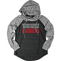 Women's Wisconsin Badgers School Pride Hooded Tee