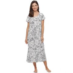 Women's Croft & Barrow® Pajamas: Short Sleeve Pintuck Nightgown