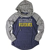 Women's Michigan Wolverines School Pride Hooded Tee