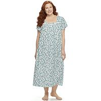 Plus Size Croft & Barrow® Pajamas: Short Sleeve Pintuck Nightgown