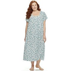 Plus Size Croft & Barrow® Pajamas: Short Sleeve Pintuck Nightgown