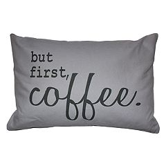 Park B. Smith Back Ease ''But First, Coffee'' Lumbar Oblong Throw Pillow