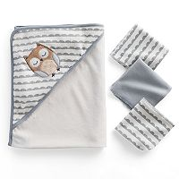 Just Born Owl 4-pc. Hooded Towel & Wash Cloth Set