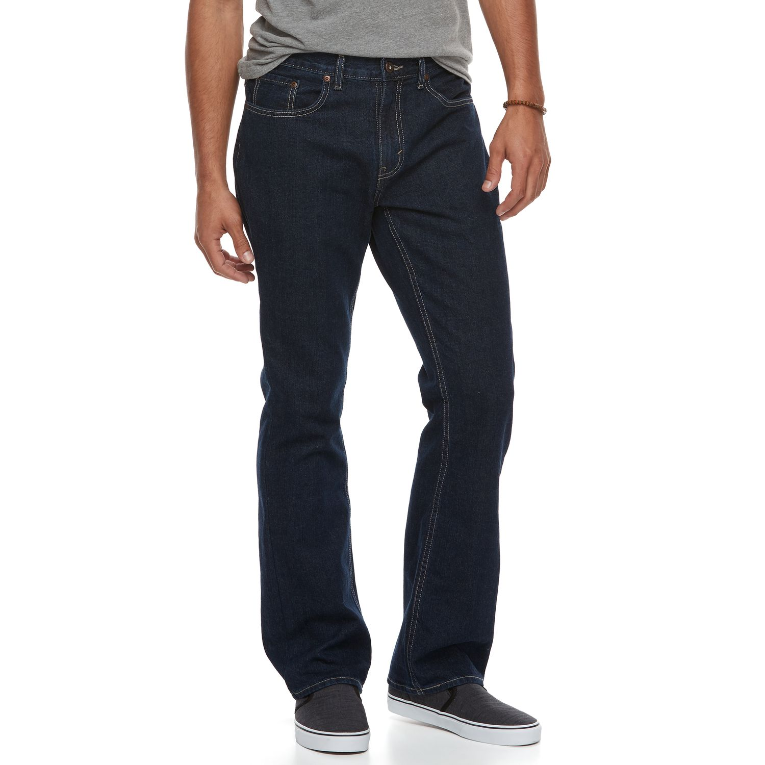 Urban pipeline relaxed fit bootcut jeans