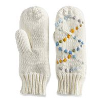 Women's SONOMA Goods for Life™ Space-Dyed Braided Cable Lined Mittens