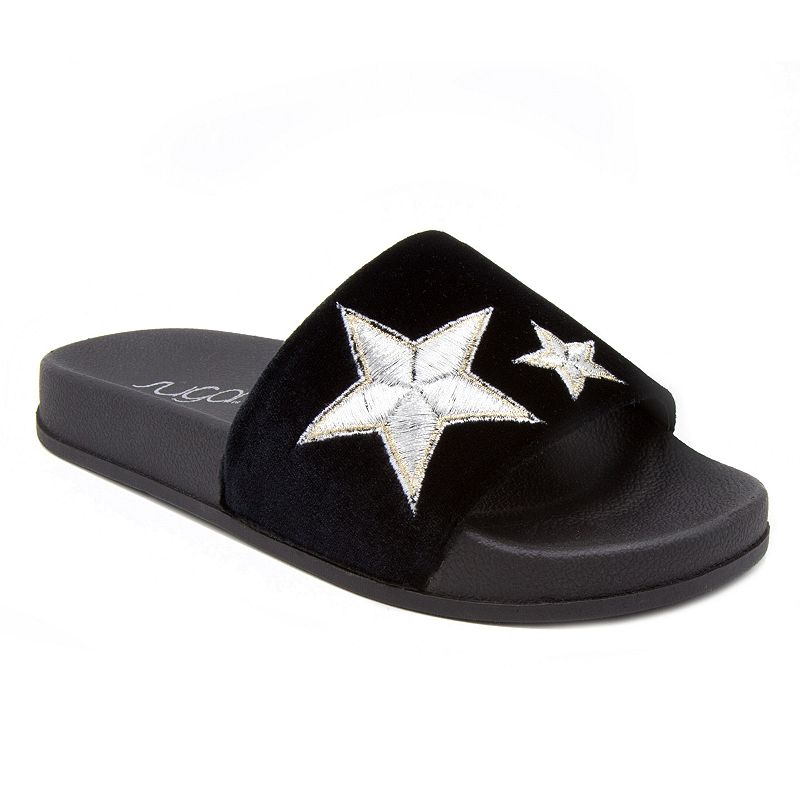 sugar Walton Women's Slide Sandals. Girl's. Size: Medium (9). Black