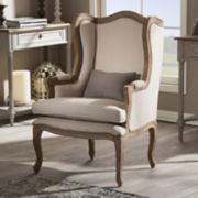 Baxton Studio Oreille Wingback Arm Chair