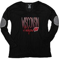 Women's Wisconsin Badgers Glitter Tee