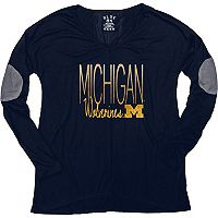 Women's Michigan Wolverines Glitter Tee