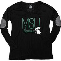 Women's Michigan State Spartans Glitter Tee