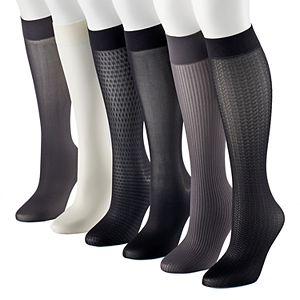 9f0af63e4 Women's Apt. 9® 6-pk. Trouser Socks
