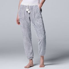 Women's Simply Vera Vera Wang Pajamas: Plush Party Jogger Pants