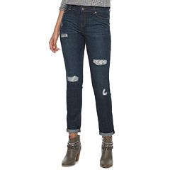 Women's Juicy Couture Embellished Ripped Skinny Jeans