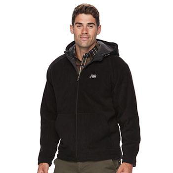 New Balance Sherpa-Lined Men's Polar Fleece Hooded Jacket