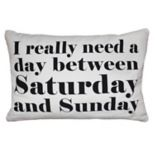Park B. Smith Back Ease ''Saturday & Sunday'' Lumbar Oblong Throw Pillow