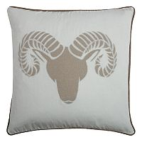 Rizzy Home Ram Throw Pillow