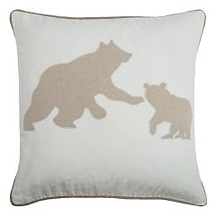 Rizzy Home Bear Mom & Cub Throw Pillow