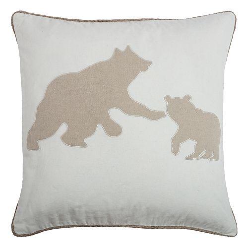 Rizzy Home Bear Mom & Cub Throw Pillow