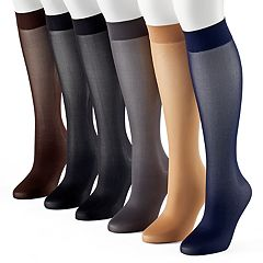 Women's Apt. 9® 6 pkTrouser Socks